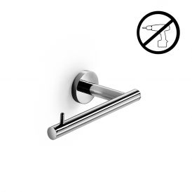 WS Bath Collections Spritz 52408G Self-Adhesive Chrome Toilet Paper Holder