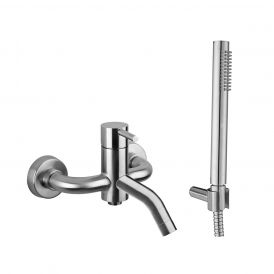 WS Bath Collections Steel 026AC Wall Mounted Bath/Shower Mixer