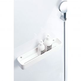 Stone DCT45 Shower Basket in Matte White