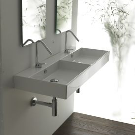 WS Bath Collections Unlimited 120 Wall Mounted / Vessel Bathroom Sink 47.2""