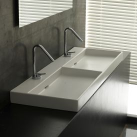 WS Bath Collections Urban 120 Wall Mounted / Vessel Bathroom Sink 47.2""