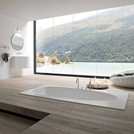 WS Bath Collections Vela 21 VE 1000 Deck Mount Bathtub