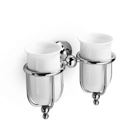 WS Bath Collections Venessia 52903 Wall Mounted Double Toothbrush Holder