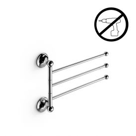 WS Bath Collections Venessia 52920.29G Self-Adhesive Chrome Triple Flexible Towel Bar 14.4""