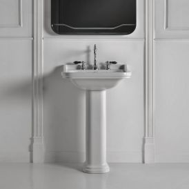 WS Bath Collections Waldorf 4141K1+417001 Pedestal Ceramic Sink 31.5""