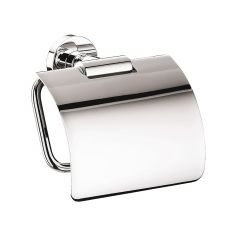 Eposa 0800.001.00 Toilet Paper Holder with Lid in Polished Chrome
