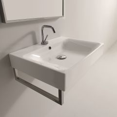 """WS Bath Collections Cento 3530 Wall Mounted / Vessel Bathroom Sink 19.7"""" x 17.7"""""""