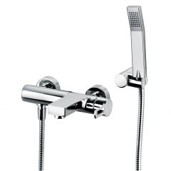WS Bath Collections Ringo 023 Bath & Shower Mixer in Polished Chrome