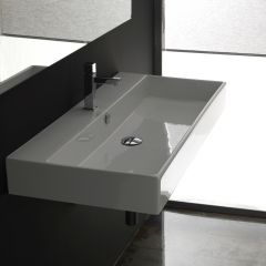 """WS Bath Collections Unlimited 90 Wall Mounted / Vessel Bathroom Sink 35.4"""""""