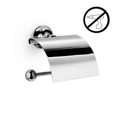 WS Bath Collections Venessia 52907.29G Self-Adhesive Chrome Toilet Paper Holder with Cover