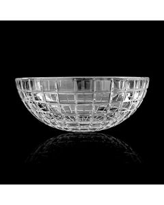 """WS Bath Collections Luxor Round Vessel Bathroom Sink in Clear Crystal 17.1"""""""