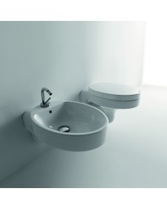 WS Bath Collections Cento 3515+358801 Wall Mounted Ceramic Toilet