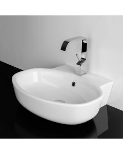 "WS Bath Collections LVO 54W Wall Mounted / Vessel Bathroom Sink 21.2"" x 18.3"""