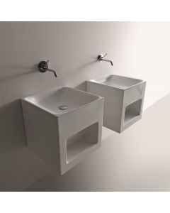 """WS Bath Collections Cento 3538 Wall Mounted Bathroom Sink 17.7"""" x 17.7"""""""