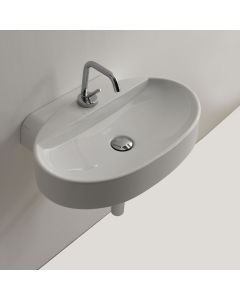 """WS Bath Collections Cento 3553 Wall Mounted / Vessel Bathroom Sink 23.6"""" x 15.7"""""""