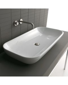 "WS Bath Collections Ciotola 100C Vessel Bathroom Sink 39.4"" x 18.1"""