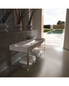 """WS Bath Collections Cento 3534 + 9127K1 Wall Mounted Bathroom Sink 47.2"""" x 17.7"""""""