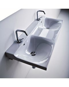"""WS Bath Collections Buddy 3404 Double Wall Mounted Bathroom Sink 39.4"""" x 16.5"""""""