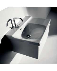 "WS Bath Collections Buddy 3402 Wall Mounted Bathroom Sink 23.6"" x 16.5"""
