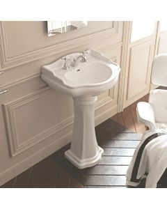 "WS Bath Collections Retro 1047+1070 Pedestal Bathroom Sink 28.7"" x 21.3"""