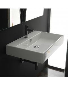 WS Bath Collections Unlimited 60 Wall Mounted / Vessel Bathroom Sink 23.6""