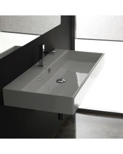 WS Bath Collections Unlimited 90 Wall Mounted / Vessel Bathroom Sink 35.4""