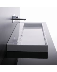WS Bath Collections Urban 100 Wall Mounted / Vessel Bathroom Sink 39.4""