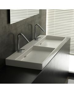 WS Bath Collections Urban 120 Wall Mounted / Vessel Double Bathroom Sink 47.2""