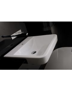 "WS Bath Collections Chiante 49 Semi-Recessed Bathroom Sink 23.2"" x 19.3"""