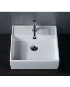 WS Bath Collections LVQ 803 Wall Mounted/ Vessel Bathroom Sink 18.3""