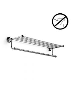 WS Bath Collections Venessia 52926.29G Self-Adhesive Towel Rack with Hanging Towel Rail