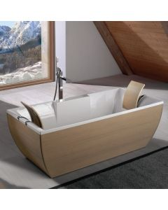 Kali'-Art Oak Free Standing Bathtub