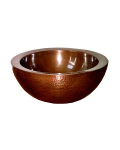 EV 400 Vessel Bathroom Sink in Antique Copper 16.7""