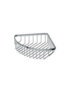 WS Bath Collections Filo 50001 Wall Mounted Corner Shower Basket in Polished Chrome