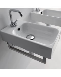 "WS Bath Collections Cento 3537 Wall Mounted / Vessel Bathroom Sink 17.7"" x 9.8"""
