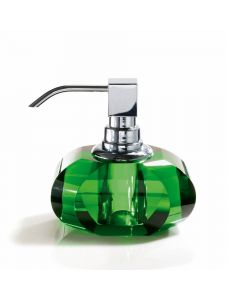 Harmony 513 Crystal Soap Dispenser in English Green