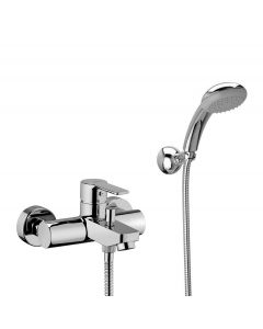 WS Bath Collections Light LIG 023 External Bath Shower Mixer with Shower Kit
