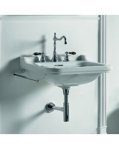 """WS Bath Collections Waldorf 4140K1 Wall Mounted Ceramic Sink 23.6"""""""