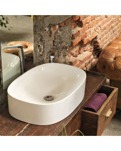 WS Bath Collections Wild 60C Vessel Sink in Ceramic White 23.6""