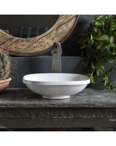 """WS Bath Collections Wild 45I Vessel / Drop-In Sink in Ceramic White 17.7"""""""