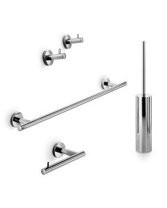 WS Bath Collections Spritz 52436 Accessory Set in Polished Chrome