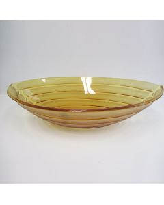 "WS Bath Collections Arca Oval Vessel Bathroom Sink in Amber 20.1"" x 13.6"""