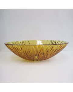 """WS Bath Collections Sole Oval Vessel Bathroom Sink in Amber 20.1"""" x 13.6"""""""