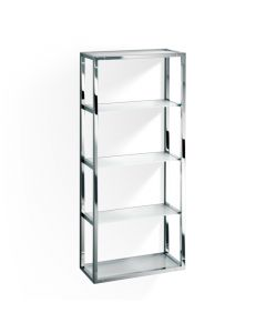 DW ET 8 Wall Rack in Frosted Glass